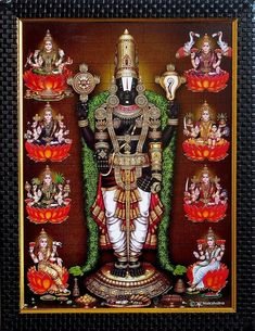 Balaji with Ashtalakshmi on Laminated Board - Wall Hanging - Table Top and Wall Hanging Pictures (Print on Laminated Board - Framed) Lord Murugan Wallpapers, Lord Krishna Wallpapers, Lord Photo, Lord Ganesha Paintings, Lord Balaji, Lord Shiva Hd Wallpaper, Lakshmi Images, Ganesha Pictures, Lord Shiva Family
