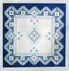 Copos de nieve - un diseño de Hardanger de Donna M. Olson de puntadas