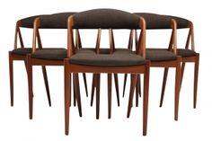 Mid Century Danish Modern Dining Chairs by Kai Kristiansen.