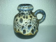 Vase Krug Fat Lava unknown Mid Century 60s 70s H: 10 cm