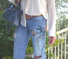 Distressed floral jeans #EpicTheMovie
