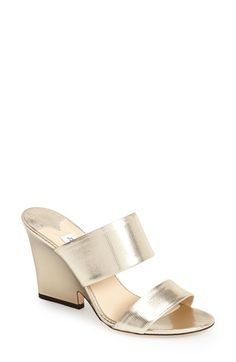 Jimmy Choo 'Marsa' Metallic Leather Dual Strap Sandal (Women) available at #Nordstrom