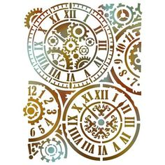Image result for clock craft stencil