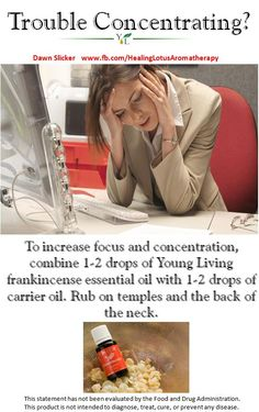 Concentration, essential oil.