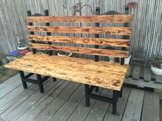 My neighbor down the street was getting rid of a couple of farmhouse chairs. Instead of them ending up as firewood, I grabbed some pallet planks and a few 2x6 pine boards from a box crate and went to work.