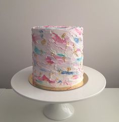 Cake Decorating For Beginners, Cake Decorating Designs, Cake Designs, Pretty Cakes, Cute Cakes, Cake Cookies, Cupcake Cakes, Birthday Cake For Women Simple, Pink Birthday Cakes