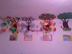 Mevsimler Preschool Themes, Montessori Activities, Preschool Crafts, Class Decoration, School Decorations, Toddler Crafts, Crafts For Kids, Arts And Crafts, Kindergarten Teachers