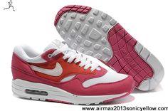 2013 New Legacy Red White Khaki Gum Dark Mens Nike Air Max 1 308866-602 Fashion Shoes Shop
