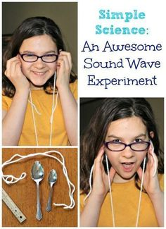 This super easy science experiment has some AMAZING results! Try this easy sound waves experiment -- Elementary & Middle School kids will LOVE creating a 'gong' and exploring how sound waves travel! Elementary Science Experiments, 6th Grade Science, Stem Science, Science Fair Projects, Middle School Science, Science Lessons, Science Education, Physical Science, Physics Experiments