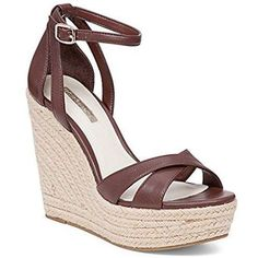BCBGeneration Women's Holly Wedge Heeled Open Toe Sandals, Brown