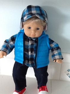 Bitty Baby Twin Boy 4 Piece Winter Outfit by KeepingItCute on Etsy