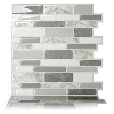 Self Adhesive Wall Tiles, Mosaic Wall Tiles, Peel And Stick Tile, Stick On Tiles, Stick On Kitchen Backsplash, Backsplash Tile, Adhesive Backsplash, Backsplash Ideas, Kitchen Mosaic