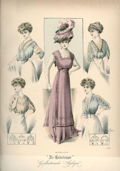 [De Gracieuse] Gekleed toilet met blouses (November 1908)