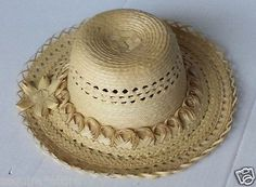 #women hat : women straw hat size L (58) natural palm straw made in Guatemala  (009) withing our EBAY store at  http://stores.ebay.com/esquirestore