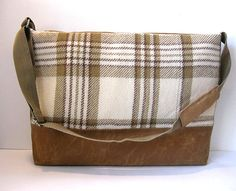Christmas Sale Half Off Rust Brown Waxed by LilyWhitepad on Etsy