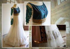 Enchanted Ivory lace and brocade anarkali