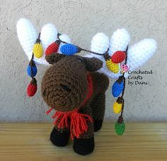 Marty the Moose is the perfect holiday decoration or stuffed toy! He comes with 3 different optional accessories, a Santa hat, scarf, and Christmas lights.