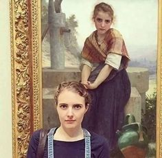 28 Funny Pictures of People Who Visited the Museum and Found Their Doppelgangers. what about my doppelganger? Rick E, William Adolphe Bouguereau, Funny Memes, Hilarious, Funny Gifs, Old Paintings, Look Alike, Funny Photos, Share Photos