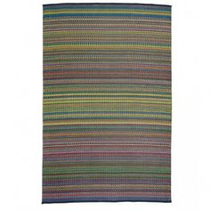 Reversible & Recycled Rainbow Indoor/Outdoor Rug | VivaTerra