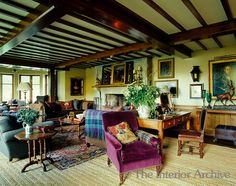 Scottish manor with plaids ~ Ward Denton design
