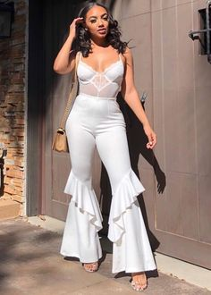 Date Night Outfit Classy, Night Outfits, Girl Outfits, Fashion Outfits, Fashion Ideas, All White Outfit, White Outfits, Casual Outfits, 18th Birthday Outfit