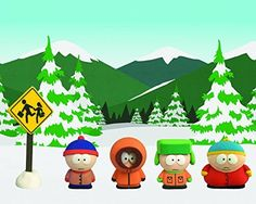 Eric Cartman, Kyle Broflovski, Kenny McCormick, Stan Marsh and Bus Stop (4 Boys Collector Set) 3D Printed Collectible Figurines