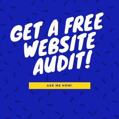 Website not performing as well as you'd like it to? Contact me for a free website audit today!
