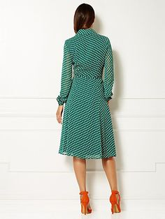 Eva Mendes Collection - Pia Shirtdress - Polka Dot  - New York & Company