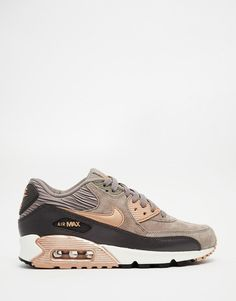 ac256bf3f Nike Air Max 90 Grey and Bronze Trainers at asos.com