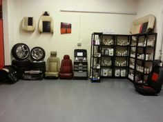 This is the full displays area.   Showing all trade products and demo's of auto interiors.   #leathertraining #leatherrepairs