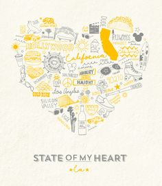 """We are having an Instagram Pre-Sale for our California & Tennessee State of My Heart art prints. These beauties are letterpressed and only available in a limited quantity. Take a look in our feed today to see colors available and place orders. See below for all of the fancy details  DETAILS: Price: $45.00 + shipping Size: 11"""" x 14"""" Paper: Off-White Matte Printing: Letterpress Ink: Yellow & Greyhttps://www.instagram.com/icecreamsocialshoppe/"""