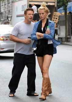 Quality time: Alec Baldwin headed out in New York today with his 16-year-old daughter Ireland from his marriage to Kim Basinger
