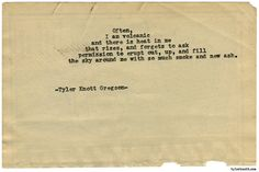 Typewriter Series #1542 by Tyler Knott Gregson Chasers of the Light & All The Words Are Yours are Out Now!