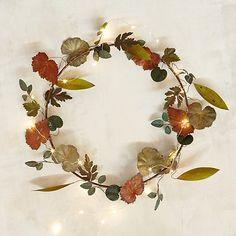 Pressed Metal Leaf Wreath