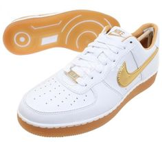 Nike Air Force 1 Downtown PRM - White - Gold - Gum - SneakerNews.com 8f79f125e4