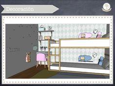dormitorio compartido niño y niña, habitación infantil, colores pastel, litera dura, vinilos infantiles, vinilos lunares, rosa y azul, kids room, decoración infantil, kidsmopolitan, papel ferm harlequin, menta para niños, color menta