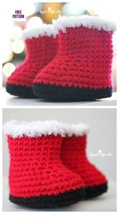 Baby Booties Crochet Patterns - 4 Stars & Up Crochet Baby Pants, Crochet Baby Blanket Beginner, Crochet Baby Bonnet, Booties Crochet, Baby Knitting, Crochet Pouch, Crochet Shoes, Knitting Ideas, Knitting Stitches