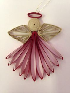 Small Quilled Angel Ornament by joanscrafts on Ets - Best Paper Quilling Designs Toilet Paper Roll Art, Rolled Paper Art, Toilet Paper Roll Crafts, Paper Quilling Designs, Quilling Paper Craft, Quilling Patterns, Neli Quilling, Quilling Images, Angel Crafts