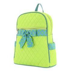Lime and Teal Belvah Bag