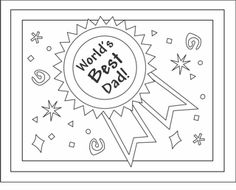 printable fathers day cards - PDF card with decorated envelope