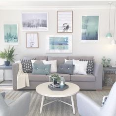 """norsu interiors on Instagram: """"Now that's one divine gallery wall! @danisaacwallin and @houseofbeatniks prints looking so calming and stunning. Styling my the talented @frostedbyamy. #norsuinteriors #norsuartlab #danisaacwallin #houseofbeatniks"""""""