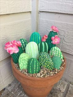 Cactus Rock Painting - Cactus Rocks Diycactus Paintedrocks With Images Rock Crafts 50 Painted Rocks That Look Like Succulents Cacti Painted Rock Painted Cactus Rock Garden E. Cute Crafts, Crafts For Kids, Arts And Crafts, Diy Crafts, Homemade Crafts, Kids Diy, Garden Crafts, Garden Projects, Craft Projects