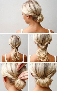 Easy chignon hairstyle