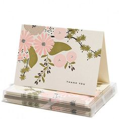 Thank You Cards - Floral- Snow and Graham - Set of 6