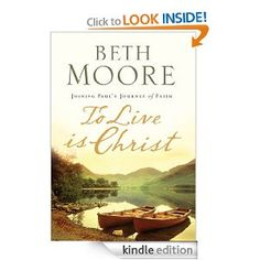 Get Beth Moore books free. Even if you don't have a Kindle. I downloaded the Kindle app onto my ipad and got these. Great author!