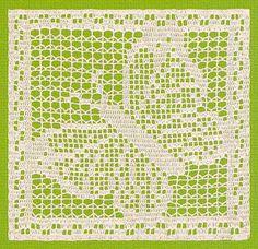 Filet Crochet Butterfly, bordeleta filé