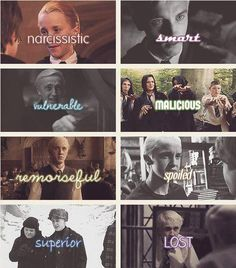 The qualities of Draco Malfoy. Again, yes. A+ to whoever did this!