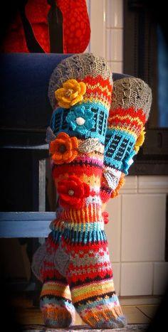 Irish crochet &: KNITTED STOCKINGS ...... knitted stockings