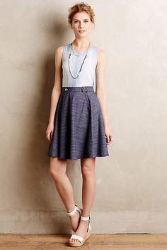 Denim Sailor Skirt - anthropologie.com