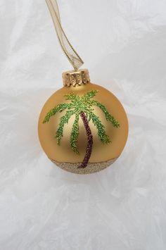 Sparkling Glitter Palm Tree Ornament